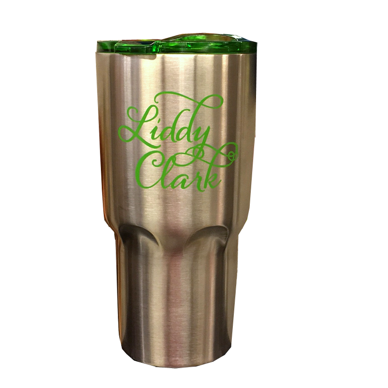 Liddy Clark Stainless Steel Tumbler w/ Straw