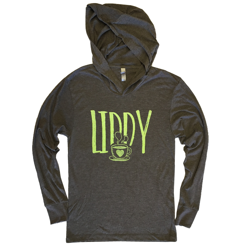Liddy Clark Unisex Heather Brown Hoodie